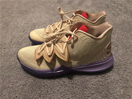 best low cut basketball shoes Promo Codes - 2019 Kyrie V Ikhet DS Beige Purple CI0295-900 Size: 7-12 For Sale Best Quality Irving 5 Basketball Shoe Store 14 Colour With Box