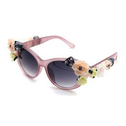 2017 Новая Мода Барокко Женщины Девушки Цветочные Солнцезащитные Очки Ретро Бренд Sexy Gems Солнцезащитные Очки Летние Пляжные Очки ZM-12 от
