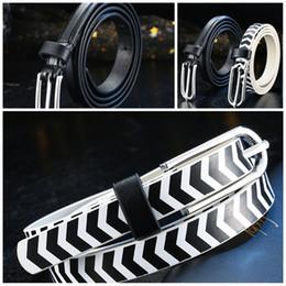 2019 cinturones de cebra Negro Blanco Cebra Patrón Faja Masculina Y Femenina Moda Cintura Fina Banda Antidesgaste Cinturones Simples Venta Caliente 3 5al I1 cinturones de cebra baratos