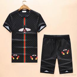 Traje hip hop online-2019 verano nueva camiseta de manga corta hip-hop tendencia de moda de lujo marca de diseñador de gran tamaño traje de camiseta para hombre M-XXXL3