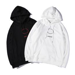 abrigo largo blanco hombre Rebajas De lujo del diseñador del Mens Sudaderas Hombre diseñador de las mujeres Escudo sudaderas Negro suéter blanco sudaderas con capucha de invierno Tamaño de manga larga M-XXL