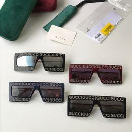 лучшие роскошные солнцезащитные очки Скидка Guc New нейтральные солнцезащитные очки с большой оправой роскошные солнцезащитные очки с ручным просверлением лучшие солнцезащитные очки Fashion Beach 60 * 16 * 145