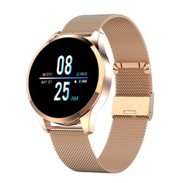 rappel de message bracelets intelligents Promotion Q9 Smart Watch d'appel de message étanche Rappel Smartwatch Moniteur de fréquence cardiaque Mode Fitness Tracker Wristband Bracelet pour iPhone Android