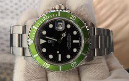 relógios automáticos de mergulho Desconto Relógios antigos Mens Automático 2813 Antigo Relógio Homens Verde Preto Liga Moldura de Aço 50th Aniversário 16610LV BP Fábrica Dive relógios de Pulso