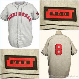 camisetas de béisbol cosidas Rebajas Birmingham Black Barons 1948 Road Jersey Cualquier jugador o número Puntada Cosido Todo cosido Envío de alta calidad Jerseys de béisbol