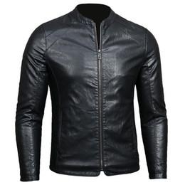 uomini blazer collari di pelliccia Sconti Giacca in pelle da uomo 2018 nuova primavera jaqueta de couro masculino Giacca in pelle da uomo sottile tendenza giovanile XD198
