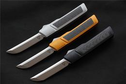 2019 bronze forjado Alta qualidade VESPA Ripper Folding Lâmina de Faca: D2 (Acetinado) Handle: 7075Aluminum + CF, facas de sobrevivência de acampamento ao ar livre EDC ferramentas