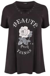 oeillets d'habillement Promotion Yours Clothing Plus Size Slogan Oeillet T-shirt Drôle livraison gratuite Unisexe Casual