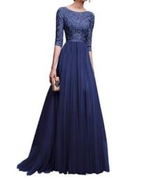 Canada jupes femmes de style européen et américain nouvelles robes de bal robe de soirée jupe longue en mousseline de soie à manches longues mode noble Offre