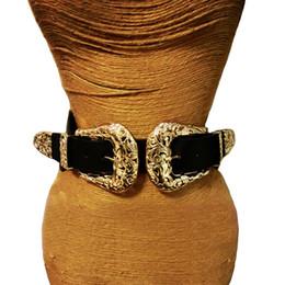 Nueva Moda Mujer Correa de La Vendimia de Metal Pin Hebilla de Cuero Para Las Mujeres Diseñador elástico atractivo ahueca hacia fuera la cintura ancha Cinturones C19010301 desde fabricantes