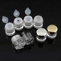 5G Mini Elmas Şekli Gevşek Toz Şişe Boş Toz Durumda Seyahat Kozmetik Glitter Toz Elek ve Kapakları ile Göz Farı Kutusu Tencere Şişeleri nereden boş glitter box tedarikçiler
