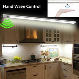 Wellensensor online-LED Handwelle Unter Kabinett Licht Infrarot Sensor Starre Streifen Bar Licht Küche Lichter Bad lampe nacht lampen hauptdekorationen
