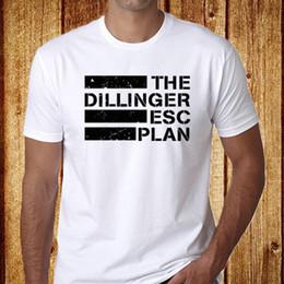 Planes de barco online-The Dillinger Escape Plan Metal camiseta blanca para hombre talla S-3XL Envío gratis