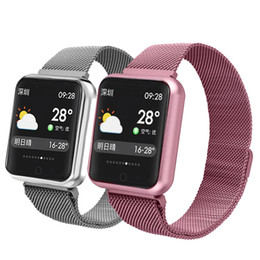new kids smart watches Promo Codes - NEW for apple iphone P68 Smart Fitness Bracelet Sport Tracker phone Watch Waterproof Heart Rate Monitor Wristband