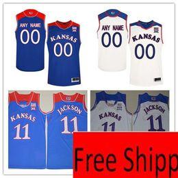 3a2e490c3 jerseys de baloncesto 4xl Rebajas Personalizado Kansas Jayhawks College  Basketball JERSEY Royal Blue White Personalizado Cosido