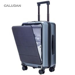 borse di lusso Sconti CALUDAN Cabin Rolling Luggage con borsa per laptop, PC Travel Suitcase with wheel, Valigetta trolley per donna, Business box per uomo