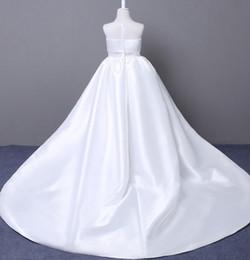 faire du vin blanc Promotion Pageant robes de demoiselle d'honneur Sweet White Black Black Wine Satin fille robes de princesse robes de soirée jupe enfant sur mesure 2-14 H310141