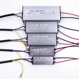 Adaptadores de controlador online-NUEVO controlador de LED 10W 20W 30W 50W Adaptador de controlador LED Transformador AC100V-265V a DC20-38V Interruptor de la fuente de alimentación IP67 para luz de tira Reflector