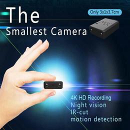 2019 più piccola telecamera wireless wifi Il più piccolo XW WiFi Mini Camera HD 4K 1080P IR visione notturna Micro telecamera Rilevazione del movimento Car DVR videocamera Wireless rete domestica di sicurezza cam più piccola telecamera wireless wifi economici