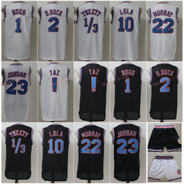 66f9b870c98c Stitched 1 Bugs 2 Daffy Duck 1 3 Tweety Movie Space Jam Tune Squad Jersey  23 Michael 10 Lola Bunny Bill 22 Murray Taz ! Basketball Jersey