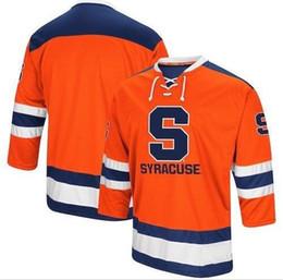 7246a7bab ice hockey jersey orange UK - Vintage Syracuse Orange Hockey Jersey  Embroidery Stitched Customize any number