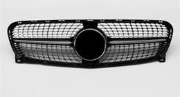 Решетки для замены онлайн-Для GLA X156 Mesh Grille ABS Материал 2014-2019 Для X156 Diamond Front Racing Grills Замена переднего бампера