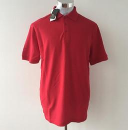 2019 pantaloni grigi grigio camicia Camicia di polo in cotone 100% di Dhl Free Hot Man Maglietta Camisa Camicie casual da uomo manica corta da uomo 10 pezzi / lotto