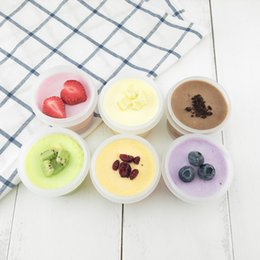 dessert cups lids Coupons - 100ml Plastic Ice Cream Cup with Lid DIY Cake Dessert Smoothies Cups Ice Cream Tools W9236