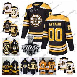 f4a25236932 2019 Stanley Cup Boston Bruins Jersey 31 Zane McIntyre 34 Paul Carey 38  Ryan Fitzgerald 58 Urho Vaakanainen 67 Jakub Zboril White Black