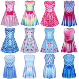 Adorável Impresso Designer Meninas Vest Vestido Princess Party Dresses Crianças Vestido de Verão sem mangas confortável para Casual Verão Estilo Multiple de Fornecedores de novo modelo meninas vestido imagem
