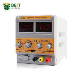 датчики постоянного тока Скидка Лучший PS-203D 0-20V 0-3A регулируемый источник питания постоянного тока с обнаружением сигнала GSM для обслуживания мобильных телефонов