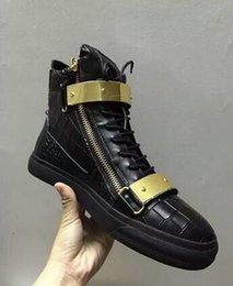 Zapatos de cuero genuino italiano online-Diseñador de la marca italiana hombres zapatos de cuero genuino mujeres zapatillas de plataforma zapatos mujer scarpa chaussure zapatillas altas de gran tamaño 35-47