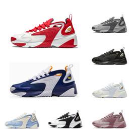 2019 zapatillas multicolor nike M2K zoom Zapatillas de running para hombre Zoom 2K para hombres, mujeres, zapatillas deportivas de diseño, azul real, negro, blanco y rojo cómodos entrenadores exteriores36-45