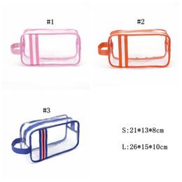 Trasparente sacchetto di lavaggio in pvc online-PVC trasparente Donne sacchetto dell'estetica di trucco impermeabile trasparente compongono Organizzatore bagagli lavata di corsa da toilette Accessori MMA2486-5