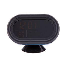 Alarme do monitor da bateria on-line-Multi-Function Digital 12V Tensão Car Alarm Temperatura Termômetro Relógio Monitor de LCD medidor de bateria Detector - Verde