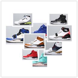Baloncesto de tormenta online-NIKE AIR JORDAN RETRO shoes Jumpman Legacy 312 Storm Blue Tech Challenge Cemento negro para niños Zapatillas de baloncesto para hombres de calidad superior Zapatillas deportivas