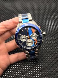 Часы f1 кварц онлайн-Новые Оптовые модные часы, нержавеющая сталь 361L, кварцевый механизм f1, VK63, многофункциональный таймер, мужские кварцевые часы, free de