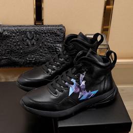 Herren-schuhe dicken gummisohlen online-Qualitäts-Entwerfer-Lace-Up Herren Sneakers Leichte stilvoller schwarze Gummisohle Mode Wilder Schuh-beiläufiges starke unteres Sport im Freien