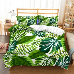 red white black quilt sets Coupons - Morden Pastoral Green Bedding Set with Pillowcase King Duvet Cover Sets Single Twin Double Queen Size Bed Cover BedClothes Quilt