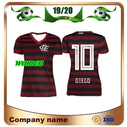 Argentina 19/20 Camiseta de fútbol Flamengo para mujer 2019 Casa # 10 DIEGO Camiseta de dama de fútbol E.RIBEIRO GUERRERO Camiseta blanca de visitante de manga corta supplier xl girls white Suministro