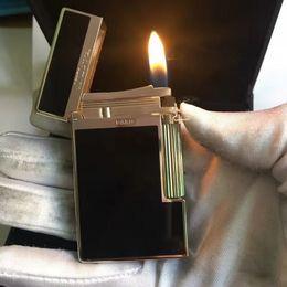 2019 isqueiros cohiba charuto Luxo NOVO Preto S.T ST Memorial mais leve Brilhante PING Som Marcas Francesas Adaptam Cigarro Fumar cigarro