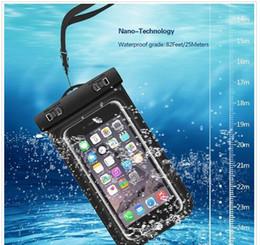 Teléfonos celulares online-Universal para iphone 7 6 6s más samsung S9 S7 Funda impermeable Funda impermeable para teléfono celular Bolsa seca para teléfono inteligente de hasta 5,8 pulgadas en diagonal