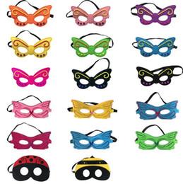 kinder schmetterlinge Rabatt Kinder Cosplay Augenmasken Schmetterling Biene Maske bunte Auge Schatten Kinder Party Maskerade Leistung Halloween Cosplay Maskottchen Kostüme CLS286