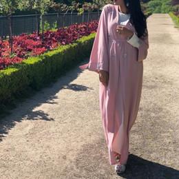 2019 modelos abaya 2019 Novo Modelo Mulheres Vestuário Islâmico Vestido Muçulmano Abaya Dubai preto e cor de rosa café eid abaya vestido modelos abaya barato