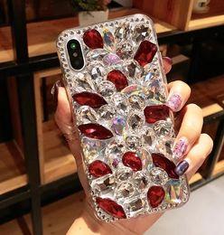 Deutschland Glitter voller diamanten rückseitige abdeckung handarbeit strass bling telefon case shell mit leder quaste flut für iphone x 10 6s cheap full diamond phone cases Versorgung