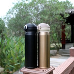 bounce cup Promo Codes - Vacumm Cup 304 Stainless Steel Bouncing Cover Thermos Cup 500ml Student Portable Thermal Insulation Water Bottles VT0766-1