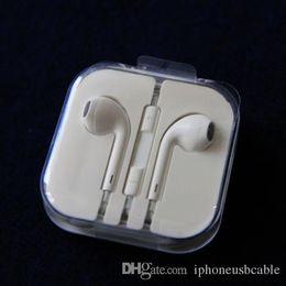 El mejor auricular de la calidad del OEM auricular para el iPhone 5s 5 iPhone 6s 6 más ipad auricular estéreo de 3,5 mm de manos libres con micrófono remoto original con la caja desde fabricantes