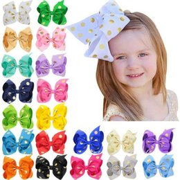 Pince à cheveux arc multicolore en Ligne-Pince à cheveux avec nœud pour enfants Carte Super estampage à chaud Dot Jojo Noeud multicolore en épingle à cheveux avec nœuds multicolores 4