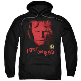 Красный фильм с капюшоном онлайн-Hellboy Фильм I Bet On Red Adult Hoodie
