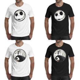 Melamine plate онлайн-Мужская печать Кошмар перед Рождеством обед тарелки черная футболка персонализированная мода сделать рубашки колледж меламин ужин кошмар